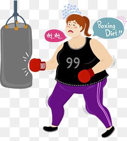 练拳击的女孩图片
