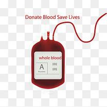 矢量精致卡通献血血袋