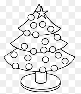 免费下载 圣诞树简笔图片大全 千库网png 第2页