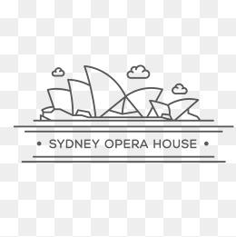 手绘卡通悉尼歌剧院简笔画图片