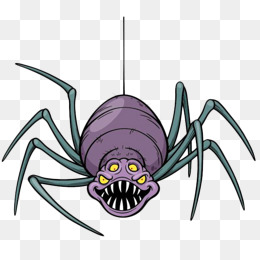手绘卡通彩色蜘蛛图片