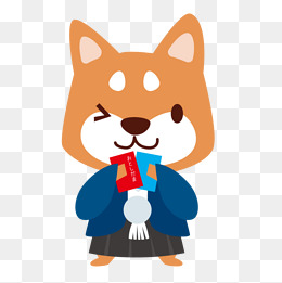 卡通可爱小动物装饰设计动物头像柴犬表情包图片