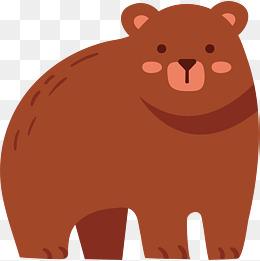 可爱卡通冬天棕熊图片