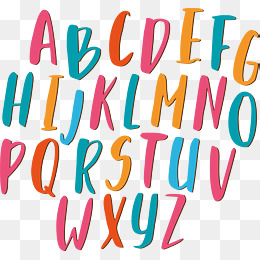 艺术英文26字母图片