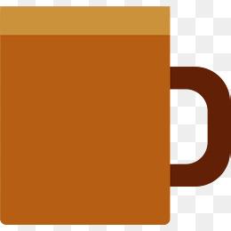 咖啡色方正矢量马克杯图片