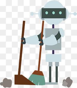 做家务扫地的机器人图片