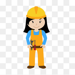 design 工人矢量图女工人矢量图建筑工人卡通矢量图  电力工人卡通图片