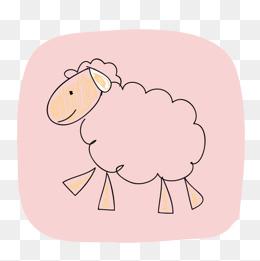 卡通可爱小动物装饰设计动物头像山羊图片
