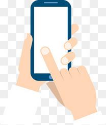 手和手机元素