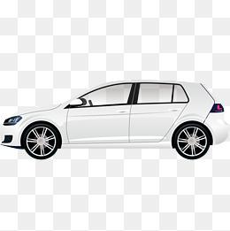 白色的汽车侧面设计图片