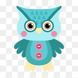 卡通可爱小动物装饰设计动物头像猫头鹰图片