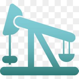 蓝色科技油井卡通图标图片