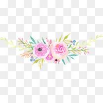 粉色花瓣叶子花环