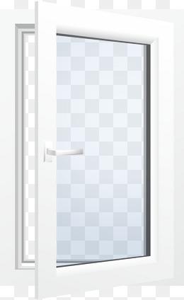 白色矢量铝合金窗户png图