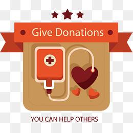 卡通爱心无偿献血图片