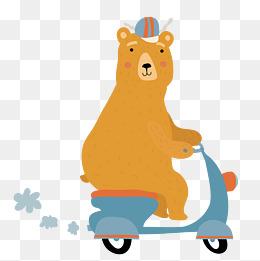 卡通棕熊png下载图片