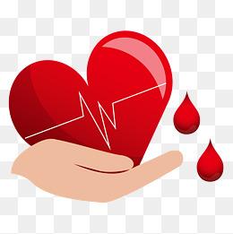 卡通爱心无偿献血手捧图片
