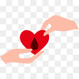 携手爱心献血血滴图片