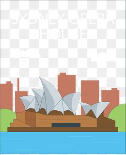 矢量图悉尼歌剧院图片