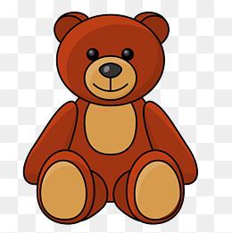 卡通手绘棕熊玩具设计图片