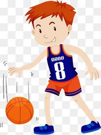 打篮球的短发男孩