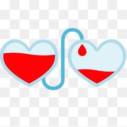 志愿者爱心献血插画图片