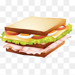 可爱的三明治矢量素材图片
