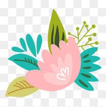 手绘水彩植物花卉设计素材