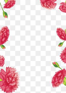 母亲节康乃馨贺卡背景