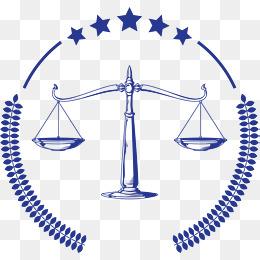 蓝色卡通法律天平图片