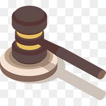 深棕色法院正义法槌