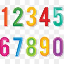 突出效果彩色数字