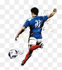 世界杯海报足球运动员创意设计
