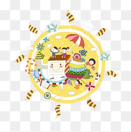 创意儿童插画设计图片