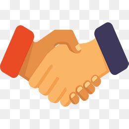 两人商务签约握手图片