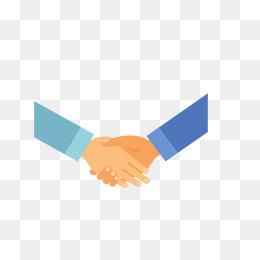 两人合作握手谈判图片