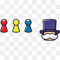 棋子卡通风格矢量道具