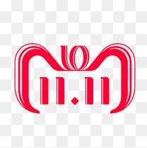 红色圆弧天猫双11电商logo