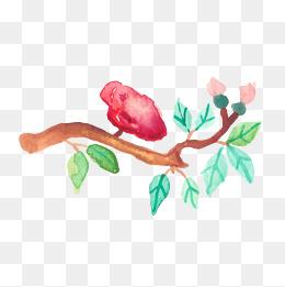 家常绘客户水彩矢量图室内设计师如何跟树枝聊植物图片