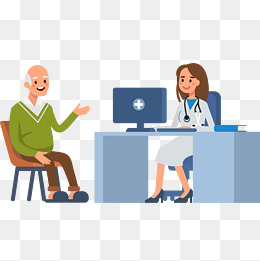社区服务关爱老人插画图片