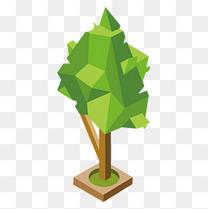 一棵立体的3D树模型