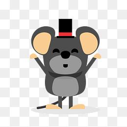 卡通黑色可爱老鼠图片