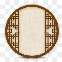 中国古风圆形海报装饰元素