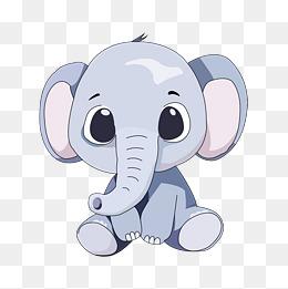 卡通大象png下载图片