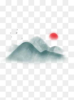 手绘热气球背景