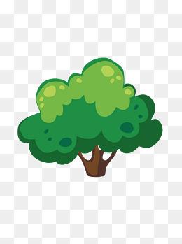 手绘矢量卡通树木素材