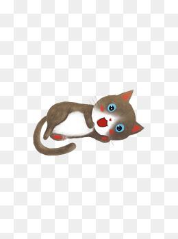 动物可爱手绘插画猫萌宠元素