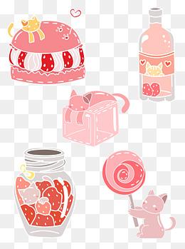 草莓味系列套图原创通用元素图片