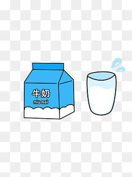 可爱简约创意卡通手绘牛奶盒