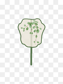 中国风扇子古风文艺复古花纹植物手绘可商用